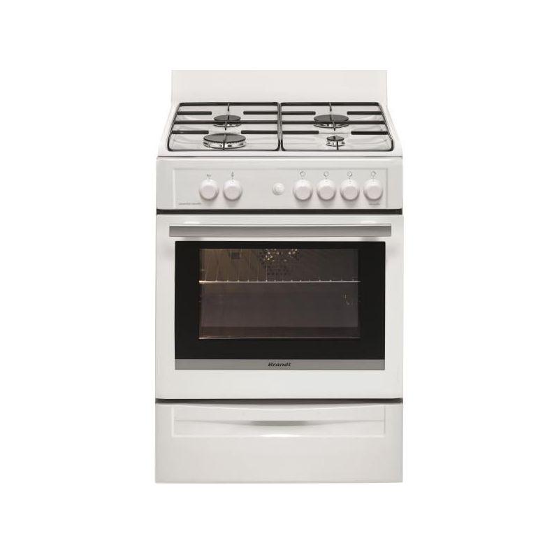 cuisiniere gaz brandt bcg6600 w pas cher comparatif. Black Bedroom Furniture Sets. Home Design Ideas