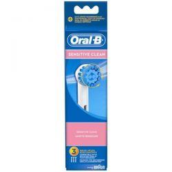 BRAUN Lot de 3 brossettes - Sensitive Clean - ORAL-B