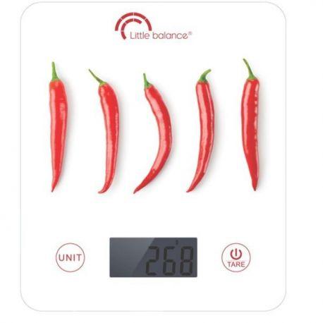 LITTLE BALANCE Balance culinaire 5 kg - Piments