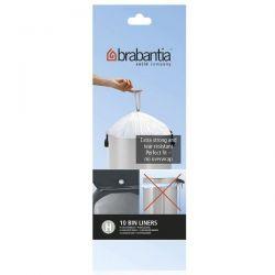 BRABANTIA Rouleau de 10 sacs poubelle Code H - 50/60 L