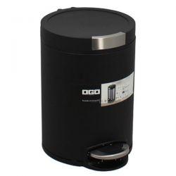 OGOLIVING Poubelle 5 L Noire - Cylindrique