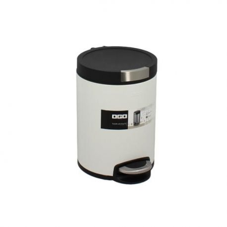 OGOLIVING Poubelle 5 L Blanc Mat - Cylindrique