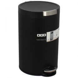OGOLIVING Poubelle 12 L Noire - Cylindrique