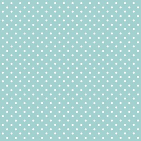 BRAUN COMPANY Lot de 20 serviettes ''Lulu Pois Bleu Ciel''