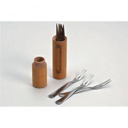 ROGER ORFEVRE Lot de 6 fourchettes à escargot avec fourreau