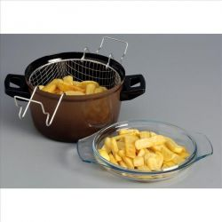 TEN Bassine à friture émail brazil 20 cm