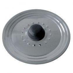 BAUMALU Couvercle inox avec trou vapeur - Diamètre 28/32 cm