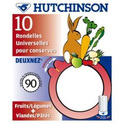 HUTCHINSON Sachet de 10 rondelles Universelles - Easy - Diamètre 85 mm