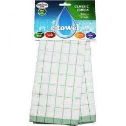 E-CLOTH Torchon microfibre 60 x 40 cm Vert - E-towel