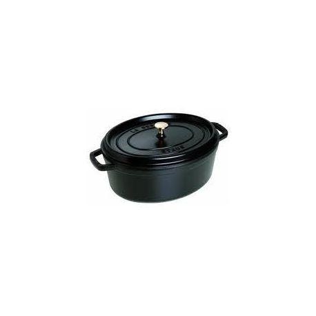 Cocotte en fonte STAUB Ovale 29 cm New Classic Noir - 1102925