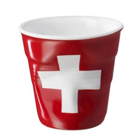 Gobelet REVOL 8cl Drapeau Suisse - Froissé - 644314