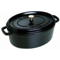 Cocotte en fonte STAUB Ovale 33 cm  Noir - 1103325