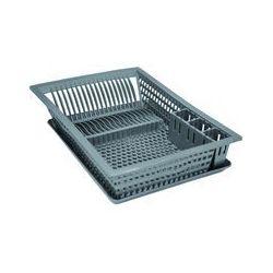 ALUMINIUM ET PLASTIQUE Égouttoir vaisselle+plateau 49x36 silver [-]