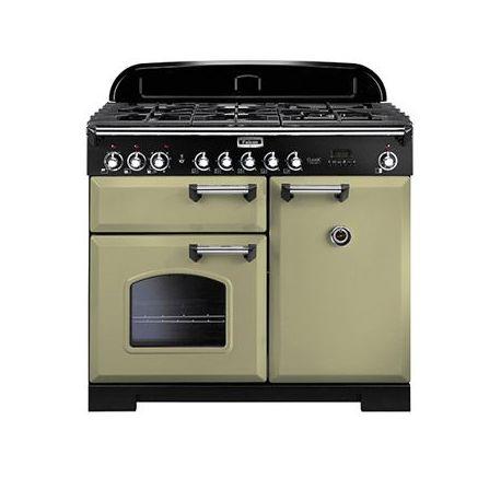 cuisini re falcon classic deluxe 100 vert olive chrome. Black Bedroom Furniture Sets. Home Design Ideas