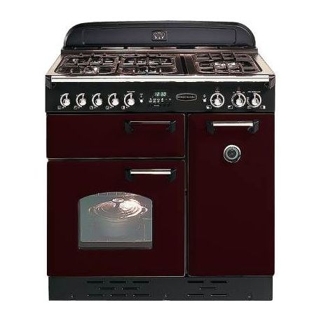 Piano De Cuisson Falcon Classic 90 Rouge Airelle Chrome