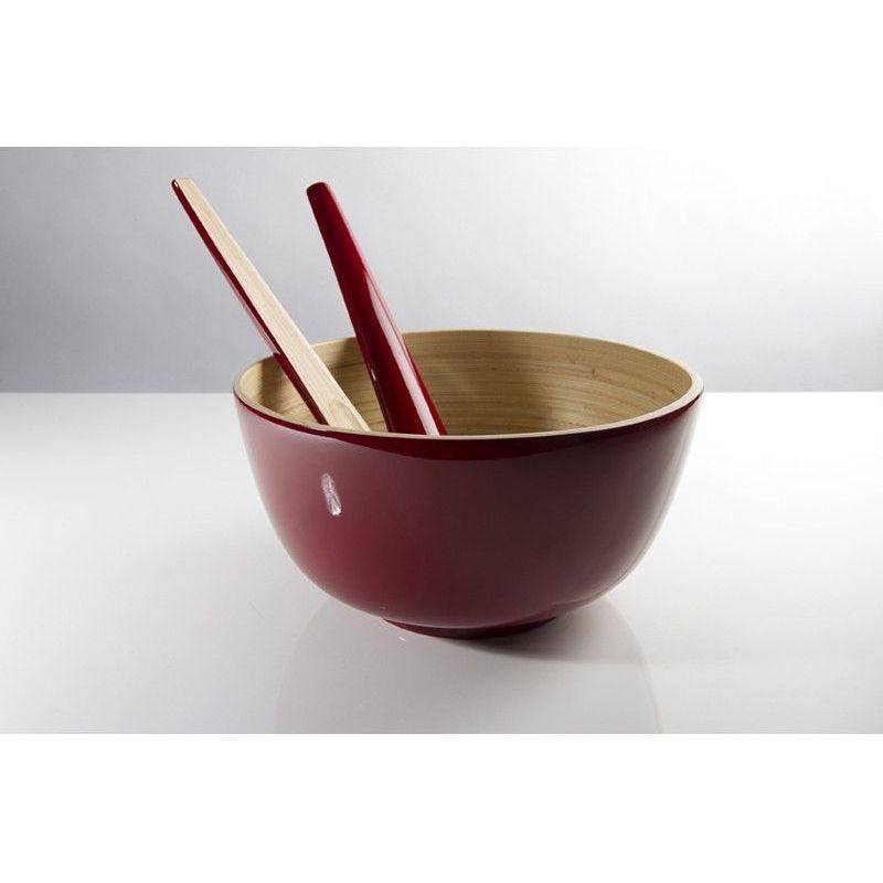 saladier en bambou bibol cerise laqu 28 cm. Black Bedroom Furniture Sets. Home Design Ideas