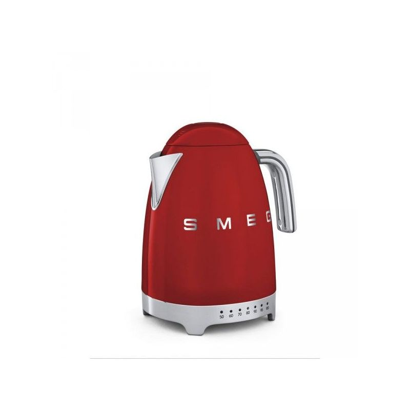 smeg bouilloire 1 7 l ann es 50 rouge avec temp rature. Black Bedroom Furniture Sets. Home Design Ideas