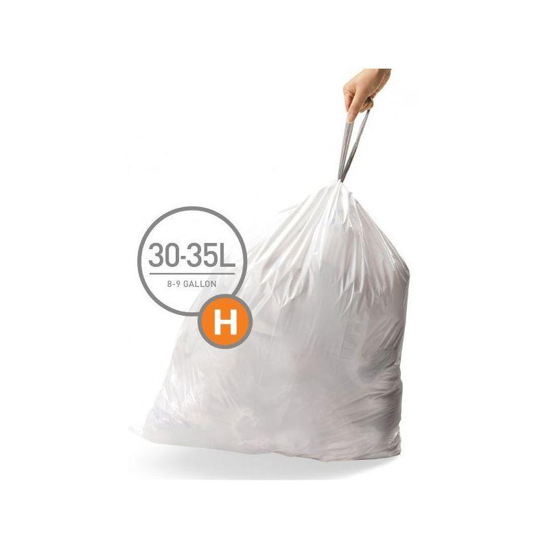 simplehuman pack de 3 lots de 20 sacs poubelles 30 35 l taille h. Black Bedroom Furniture Sets. Home Design Ideas