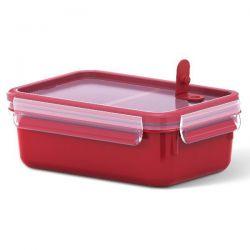 EMSA Boîte rectangulaire 1 L avec 2 compartiments - Clip & Close Micro