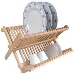 METALTEX Égouttoir pliable bois