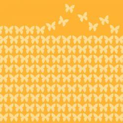 BRAUN COMPANY Lot de 20 serviettes Papillons Jaunes