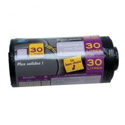 PUBLI EMBAL Lot de 20 Sacs Poubelle NF 30 L renforcés Noirs