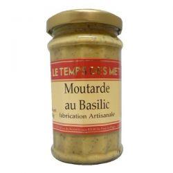 LE TEMPS DES METS Moutarde au Basilic - 200 g