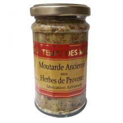 LE TEMPS DES METS Moutarde Ancienne aux Herbes de Provence - 180 g