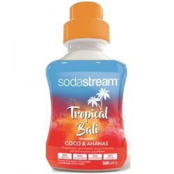 SODASTREAM Concentré 500 ml - Saveur Coco Ananas - Tropical Bali