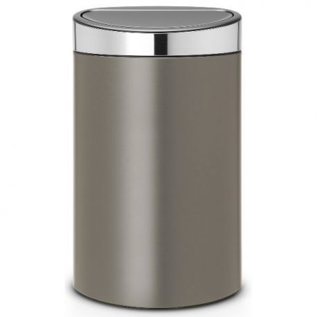 brabantia poubelle 40 l platinium touch bin. Black Bedroom Furniture Sets. Home Design Ideas