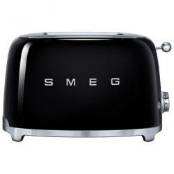 SMEG Toaster 2 tranches Noir - Années 50 - TSF01BLEU