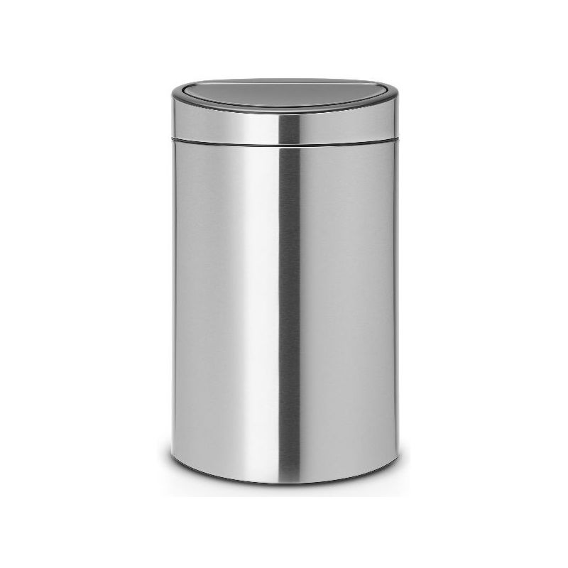brabantia poubelle 40 l matt steel touch bin. Black Bedroom Furniture Sets. Home Design Ideas
