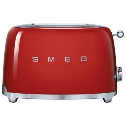 SMEG Toaster 2 tranches Rouge - Années 50 - TSF01RDEU