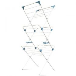 MINKY Séchoir extensible 15 mètres Blanc - Concertina