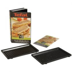 SEB Lot de 2 plaques Grill / Panini - Snack Collection