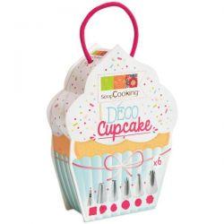 SCRAPCOOKING Boîte 'Déco Cupcake' 6 douilles