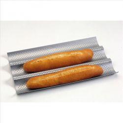 PATISSE Moule 3 baguettes revêtu 38 cm - Silver Top 3664