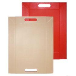Plateau 45x35 cm FREEFORM piable et réversible rouge et taupe