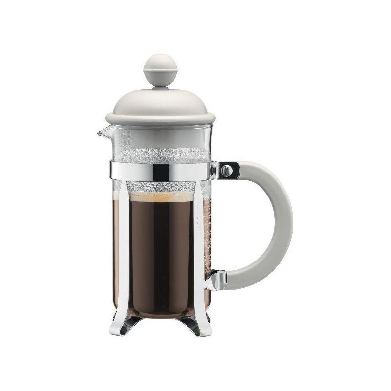 bodum cafeti re piston 8 tasses blanc cr me caffettiera colors. Black Bedroom Furniture Sets. Home Design Ideas