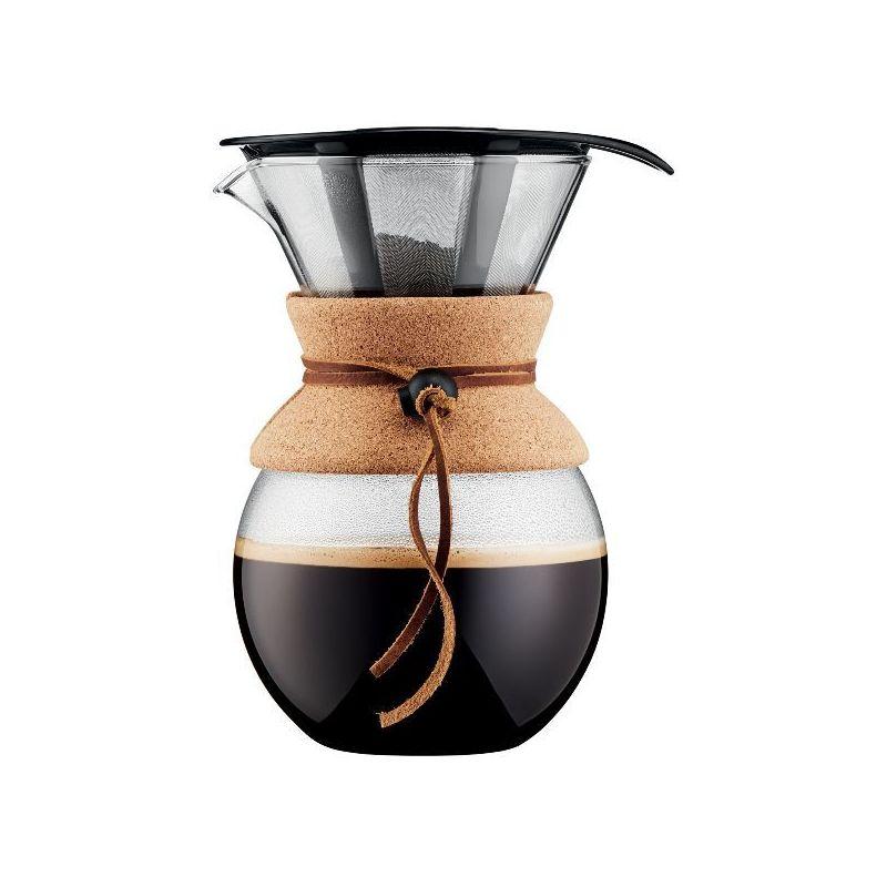 bodum cafeti re 8 tasses 1 l li ge cuir pour over. Black Bedroom Furniture Sets. Home Design Ideas