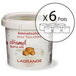 LAGRANGE Lot de 6 Aromatisations pour yaourts - Caramel Beurre Salé