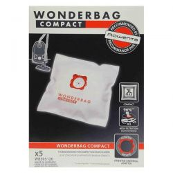 SEB Lot de 5 sacs aspi Wonderbag Compact