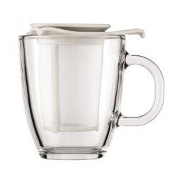 BODUM Set mug verre 0.35L + filtre Blanc Crème - Yo Yo Set