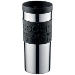 BODUM Mug 0.35 L double paroi Inox & Noir - Travel Mug