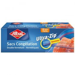ALBAL Sacs congélation Ultra-Zip x20 Petits modèles 17 x 17 cm