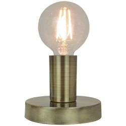 SAMPA-HELIOS Lampe à poser Lina métal finition laiton