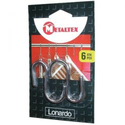 METALTEX Lot de 6 crochets Lonardo 6 cm