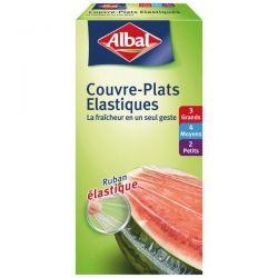 ALBAL Couvre-plats élastiques x9