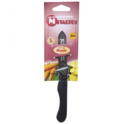 METALTEX Couteau éplucheur 2 tranchants inox