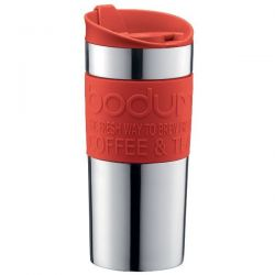 BODUM Mug 0.35 L double paroi Inox & Rouge - Travel Mug
